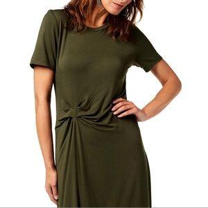 RACHEL Rachel Roy Draped Front Dress Olive Small